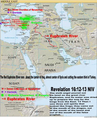 Antichrist Coming from East of Euphrates river.